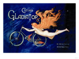 Cycles Gladiator Reproduction d'art