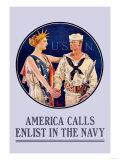 America Calls  Enlist in the Navy