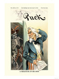 Puck Magazine: A Skeleton of His Own