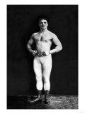 Bodybuilder in Leotard and Boots
