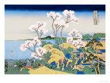 Cherry Blossom Festival Reproduction d'art par Katsushika Hokusai