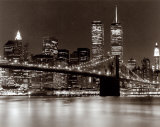 Over the Brooklyn Bridge at Night