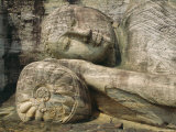 Statue of the Reclining Buddha  Attaining Nirvana  Gal Vihara  Polonnaruwa  Sri Lanka