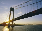 Verrazano Narrows Bridge  Approach to the City  New York  New York State  USA