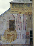 Fading Painted Writing on Back Street Wall  Bayeux  Basse Normandie (Normandy)  France  Europe