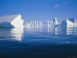 Icebergs Exhibiting Fluting and Honeycomb Textures  Antarctica