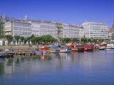 Colourful Boats in Port  La Coruna  Galicia  Spain  Europe