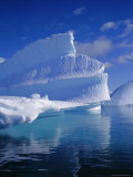 Iceberg with Fluted and Honeycomb Textures  Antarctica  Polar Regions