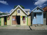 Typical Caribbean Houses, St. Lucia, Windward Islands, West Indies, Caribbean, Central America Papier Photo par Gavin Hellier