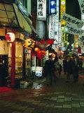 Street Scene at Night, Shinjuku, Tokyo, Japan, Asia Papier Photo par Gavin Hellier