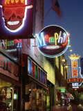 The Famous Beale Street at Night, Memphis, Tennessee, United States of America, North America Papier Photo par Gavin Hellier