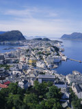 View from Aksla Over Alesund  Romsdal  Norway  Scandinavia  Europe