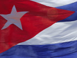 Close-up of the Cuban Flag  Havana  Cuba