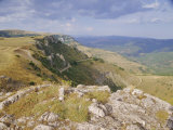 The Cavennes  Tarnon Valley from Causse Mejean  Languedoc Roussillon  France  Europe