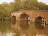 The 18th Century Sonning Bridge Over the River Thames Near Reading  Berkshire  England  UK