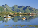 Fishing Boat in Austnesfjorden  Lofoten Islands  Nordland  Norway  Scandinavia  Europe