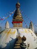 Swayambhunath Stupa (Monkey Temple), Kathmandu, Nepal, Asia Papier Photo par Gavin Hellier