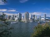 City Skyline from False Creek  Vancouver  British Columbia (BC)  Canada  North America
