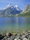 Tetons and Jenny Lake  Grand Teton National Park  Wyoming  USA
