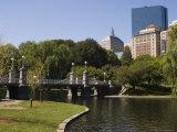 Lagoon Bridge in the Public Garden  Boston  Massachusetts  USA