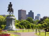 Statue of George Washington on Horseback  Public Garden  Boston  Massachusetts  USA