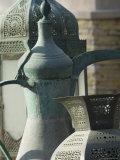 Old Arabian Coffee Pot and Jars  Dubai  United Arab Emirates  Middle East