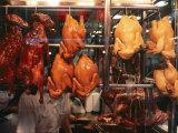 Cooked Peking Duck Displayed in Restaurant Window  Hong Kong  China  Asia
