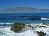 Table Mountain Viewed from Robben Island  Cape Town  South Africa