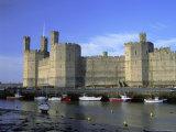 Caernarfon (Caernarvon) Castle  Unesco World Heritage Site  Gwynedd  North Wales  UK  Europe