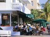 News Cafe on Ocean Drive  South Beach  Miami Beach  Florida  USA
