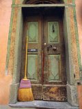 Doors and Broom  Ardez  Switzerland  Europe
