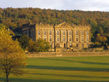 West Elevation  Chatsworth House in Autumn  Derbyshire  England