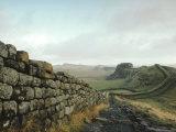 Hadrian's Wall  Towards Crag Lough  Northumberland England  UK