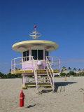 Art Deco Lifeguard Station  South Beach  Miami Beach  Florida  USA