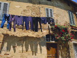 Volterra  Tuscany  Italy Washing Hanging on a Line