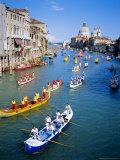 Regatta Storica  Parade on Grand Canal  Venice  Veneto  Italy