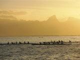 Boats at Sea  French Polynesia