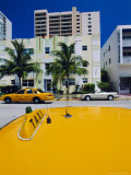 Yellow Taxi  South Beach  Miami Beach  Florida  USA