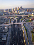 Aerial of Highways Leading to Atlanta  Georgia