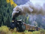 Steam Train  Durango & Silverton Railroad  Silverton  Colorado  USA