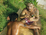 Tavita Manea  Tattooer  Moorea  Society Islands  French Polynesia  South Pacific Islands  Pacific