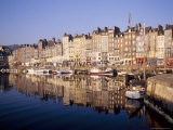Reflections in the Old Harbour at St Catherine's Quay in Honfleur  Basse Normandy
