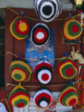 Rasta (Rastafarian) Hats on Display  Tobago  Trinidad and Tobago  West Indies  Caribbean