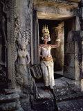 Traditional Cambodian Apsara Dancer  Siem Reap Province  Cambodia