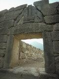 Lion Gate  Mycenae  Unesco World Heritage Site  Greece  Europe