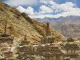 Chortens, Hemis Gompa (Monastery), Hemis, Ladakh, Indian Himalayas, India, Asia Papier Photo par Jochen Schlenker