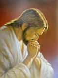 Christ Praying Reproduction d'art