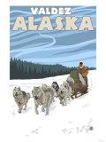 Dog Sledding Scene  Valdez  Alaska