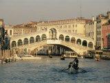 Rialto Bridge and the Grand Canal  Venice  Unesco World Heritage Site  Veneto  Italy  Europe