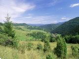 Valley Scenery Around Village of Biela  Mala Fatra Mountains  Slovakia  Europe